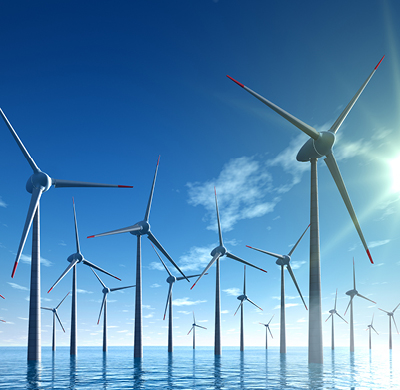 Application wind turbines
